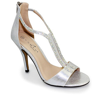 Lunar Silver Back Zip Elegant Shoe