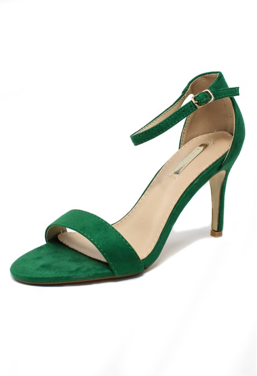 Shoe Lounge green barely there suedette sandals