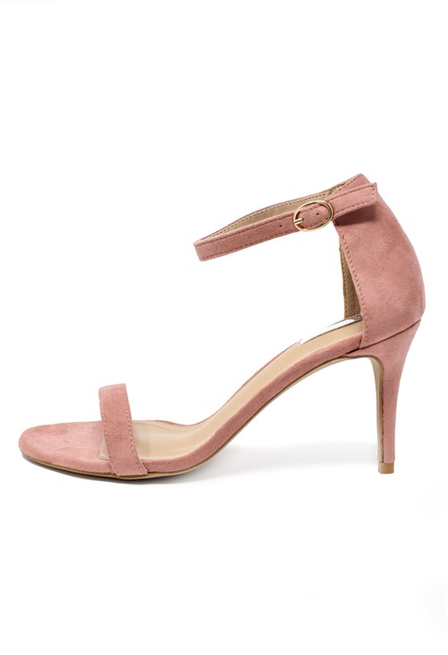 Pamela Scott Nude barely there suedette sandals