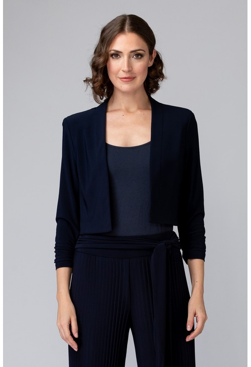 Joseph Ribkoff Navy Bolero with ¾ Length Sleeve