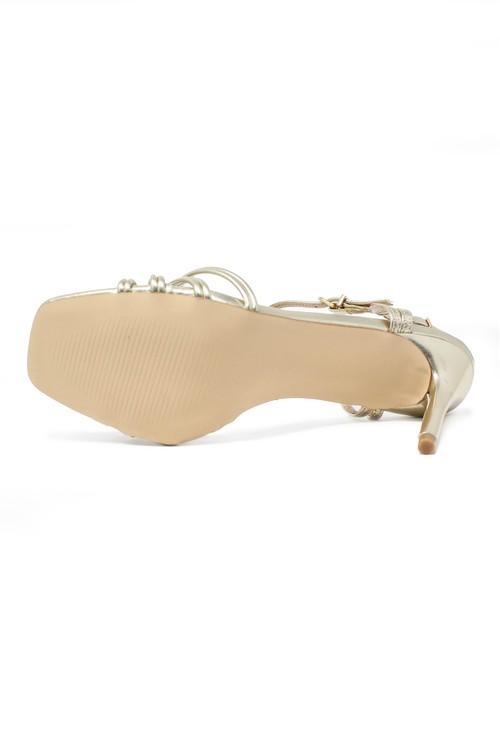 Shoe Lounge gold rope effect sandal