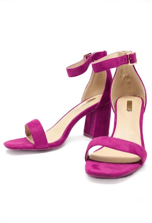 Shoe Lounge fuchsia suedette block heel sandal