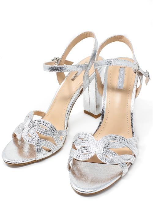 Shoe Lounge silver block heel sandal