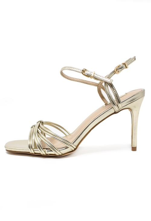Pamela Scott gold rope effect sandal