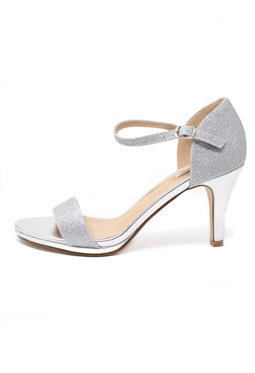 Shoe Lounge silver glitz barely there sandals