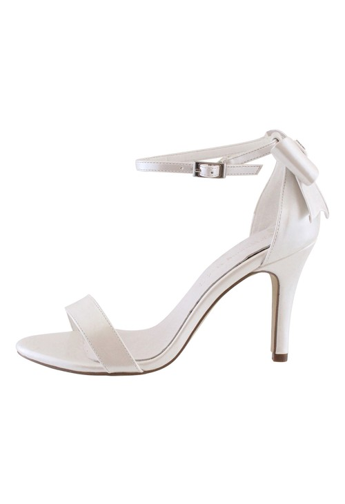 Pamela Scott Ivory High Heel Ankle Strap Shoe