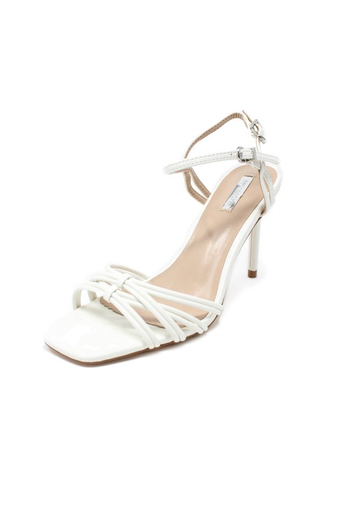 Pamela Scott white rope effect sandal