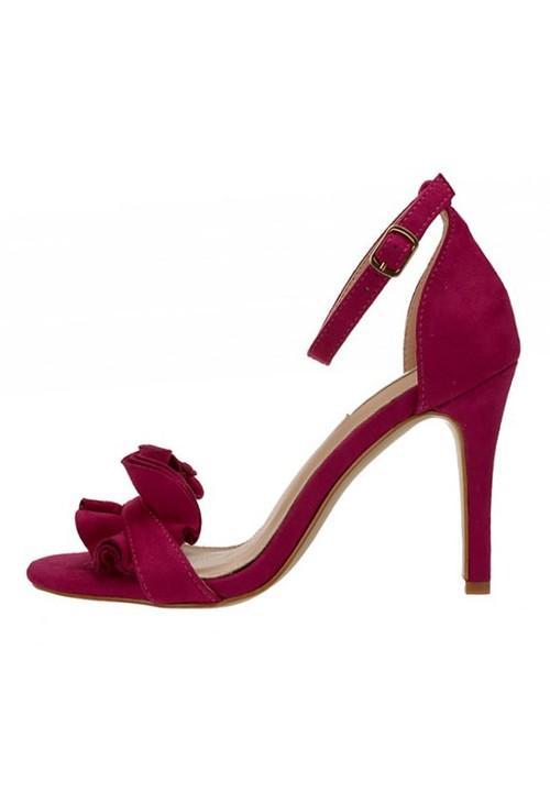 Shoe Lounge Fuschia Frill Detail Heels