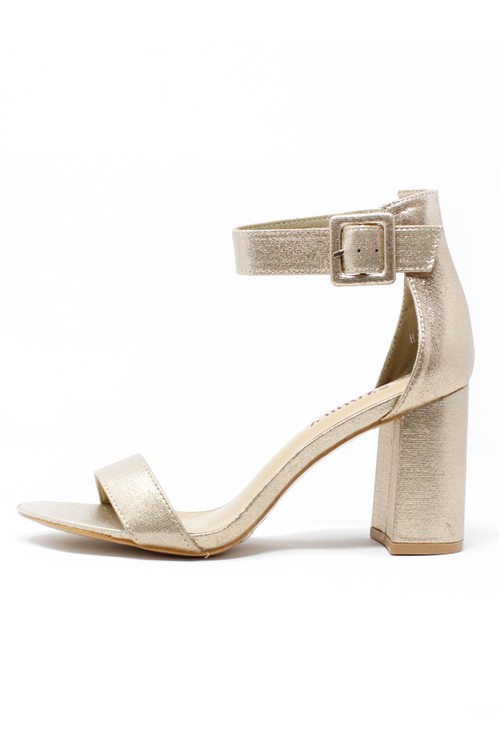 Shoe Lounge Gold Block Heel Sandal