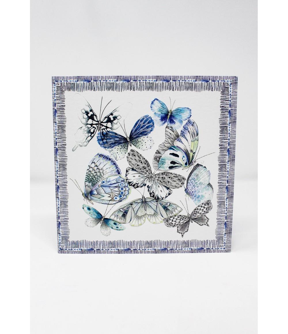 Pamela Scott Greeting Card | Designers Guild | Papillons Cobalt