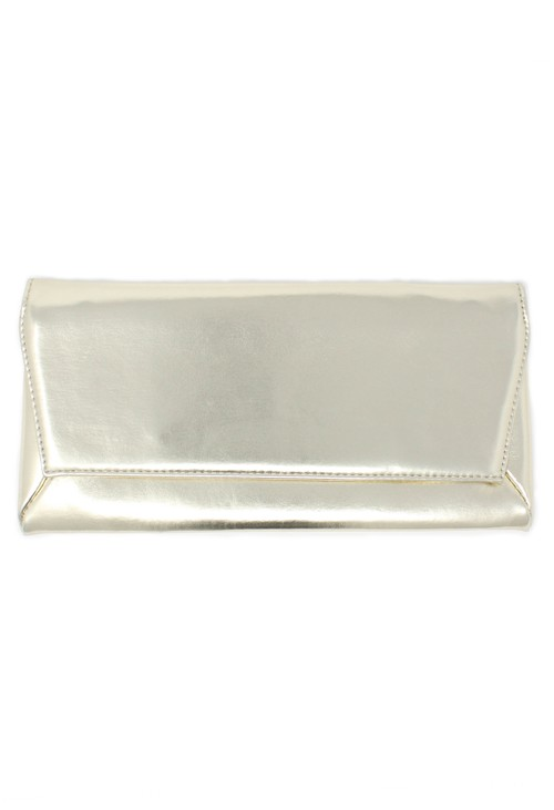 Pamela Scott champagne envelope clutch bag