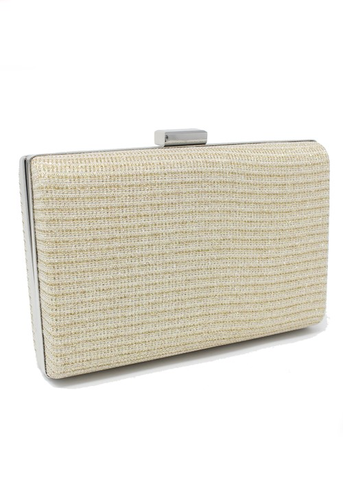 Pamela Scott gold diamante clutch bag