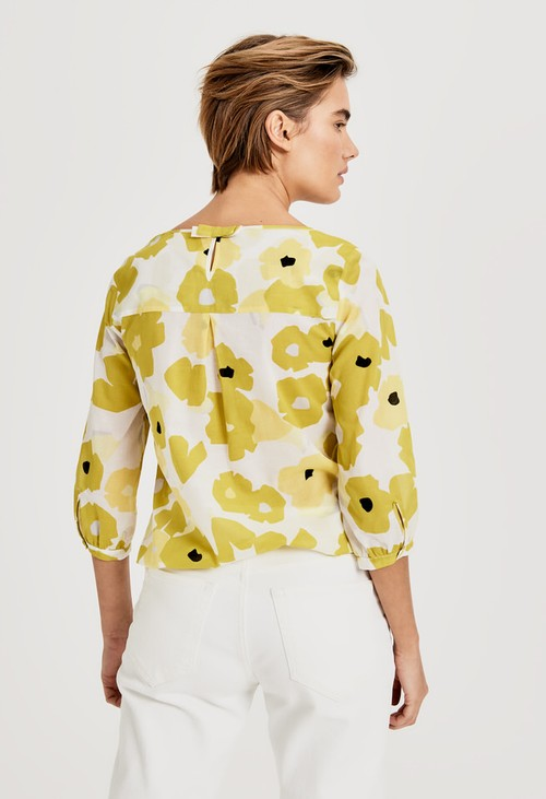 Opus Green Leaf Blouse