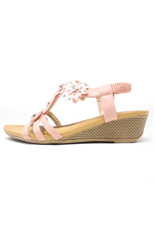 Pamela Scott Pink Floral Design Sandals