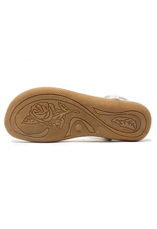 Pamela Scott Silver Toe Post Sandals
