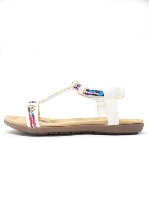 Pamela Scott Diamonte and Pattern Detail Sandal