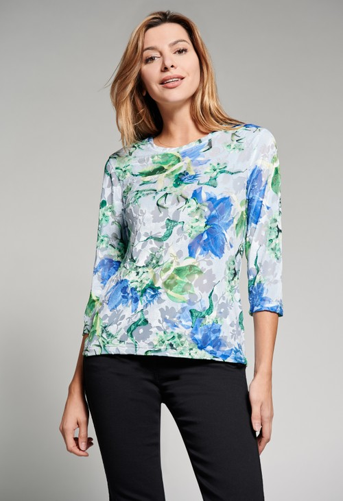 Bicalla Floral 3/4 length sleeve top