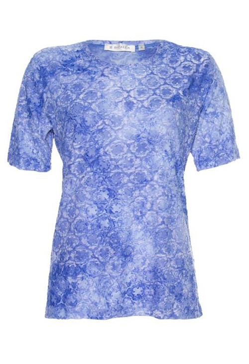 Bicalla Blue Printed T-Shirt