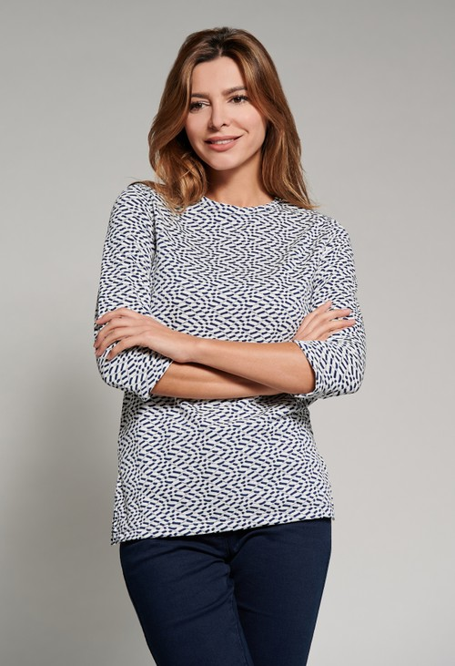 Bicalla Textured 3/4 Length Sleeve Top