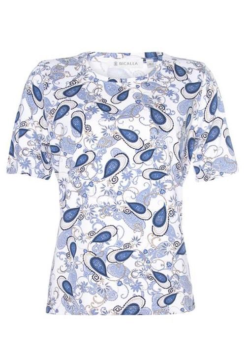 Bicalla Paisley Print T-Shirt