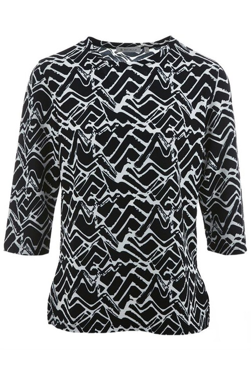 Bicalla Monochrome 3/4 Length Sleeve Top