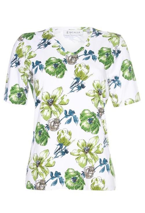 Bicalla V-Neck Floral Print T-shirt