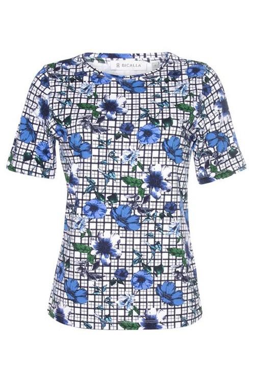 Bicalla Check Print T-shirt