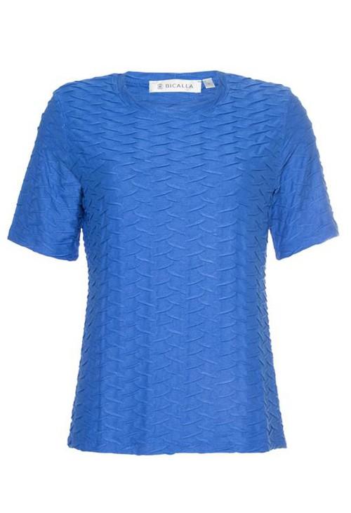 Bicalla Blue Textured T-Shirt