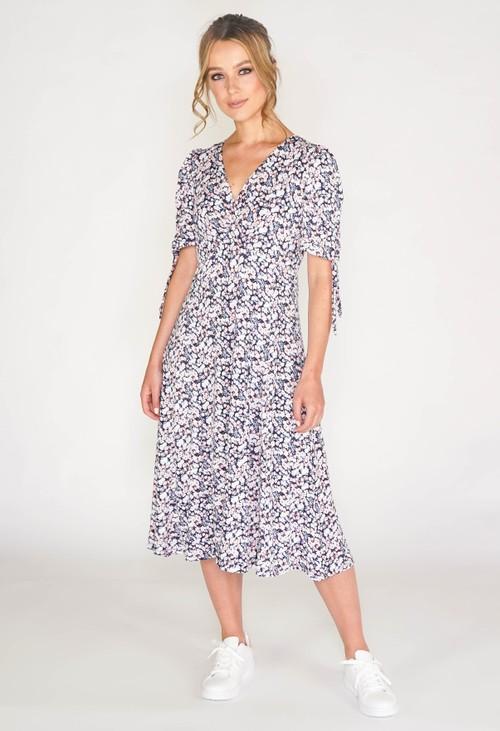 Sophie B Mille Fleur Crossover Swing Dress