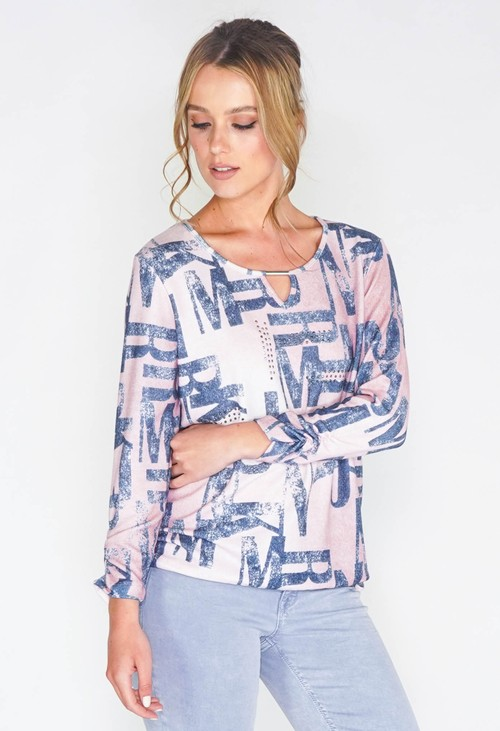 Sophie B JEANS LETTER PRINT CASUAL TOP