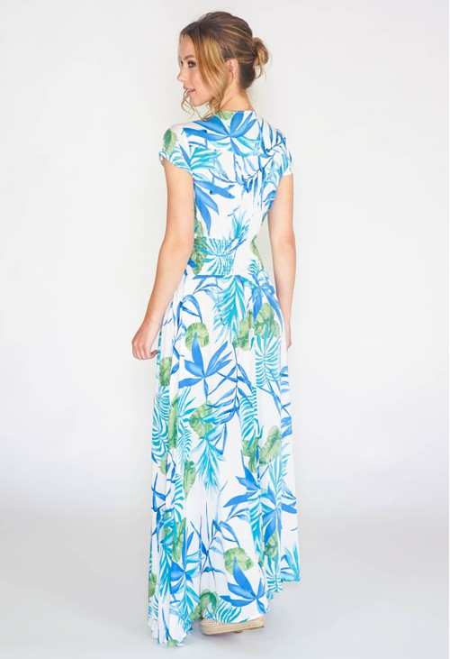 Pamela Scott Tropical printed maxi dress