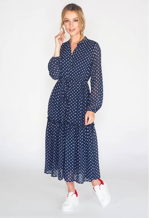 Pamela Scott GEOMETRIC PRINT DRESS