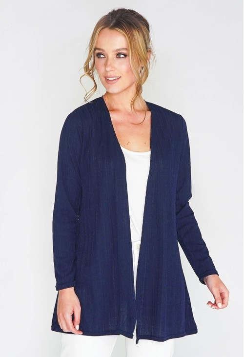 Sophie B LIGHTWEIGHT RIB EDGE TO EDGE CARDI