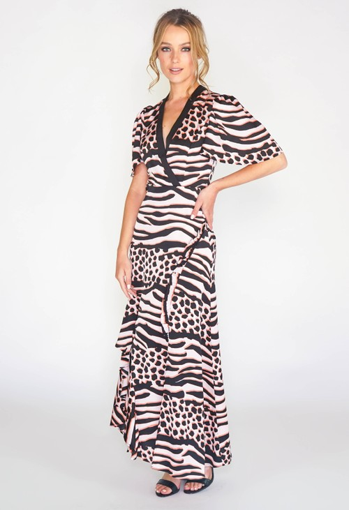 Pamela Scott MAXI DRESS IN ANIMAL PRINT