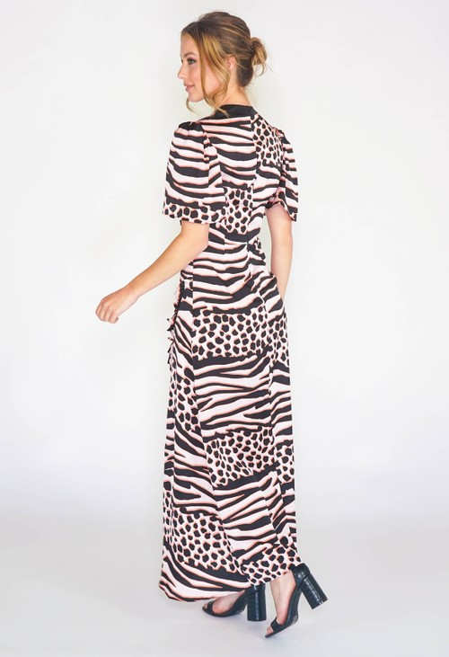 Pamela Scott MAXI DRESS IN ANIMAL PRINT