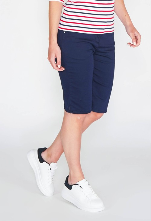 Twist CASUAL BERMUDA SHORTS - NAVY