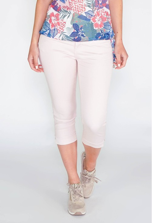 Twist SHAPE & LIFT SUMMER 5 POCKET CAPRI PANTS - SOFT ROSE