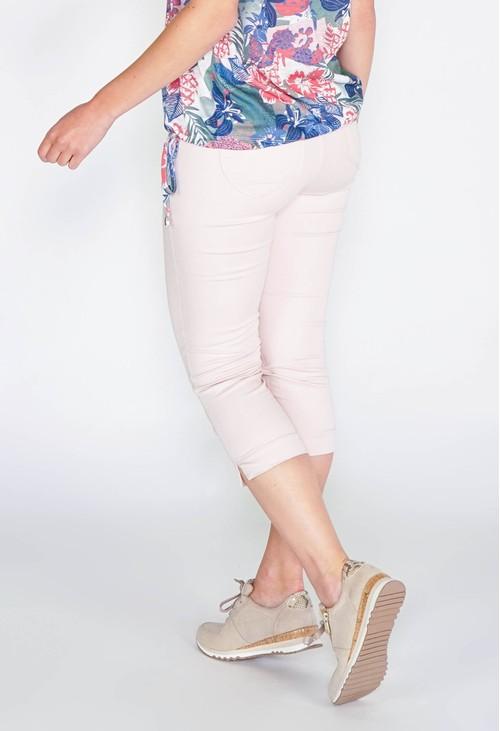Twist SHAPE & LIFT SUMMER 5 POCKET CAPRI PANTS - SOFT ROSE