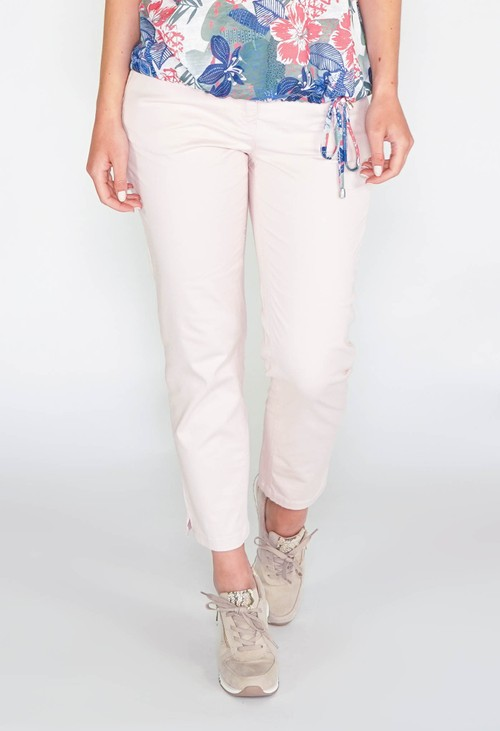 Sophie B GLAM COTTON SATEEN 7/8 PANT - ROSE