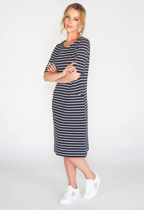 Gerry Weber Short Sleeve stripe dress