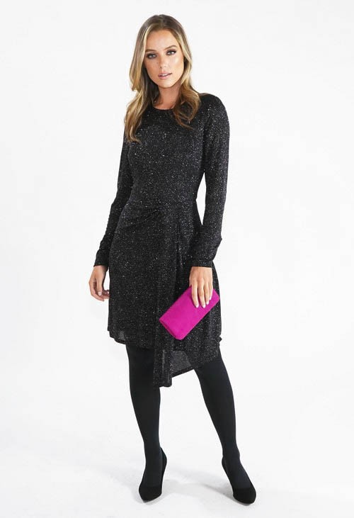 London Times Sparkle Fit and Flare Dress