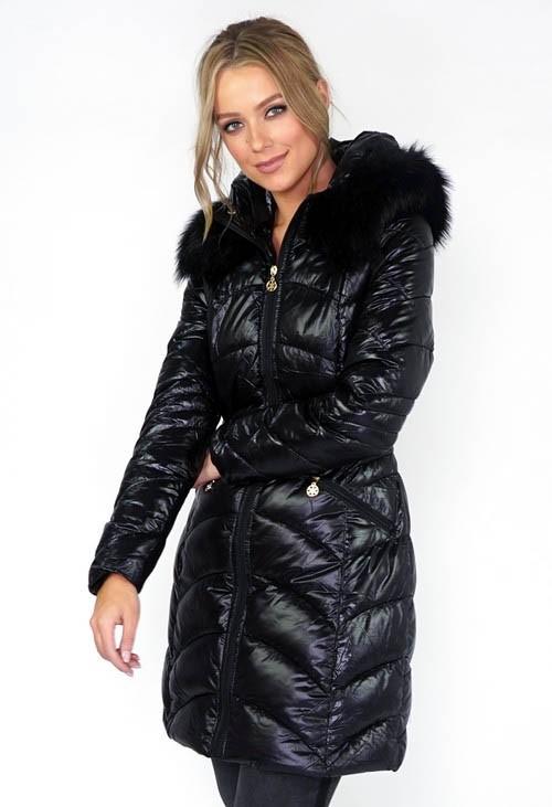Pamela Scott Black Padded Coat