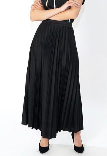 Pamela Scott Black Pleated Skirt