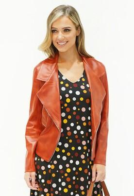 Sophie B Rust Biker Style Jacket