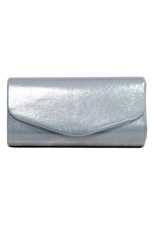 Pamela Scott Silver Metallic Clutch