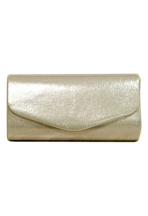 PS Accessories Gold Metallic Clutch