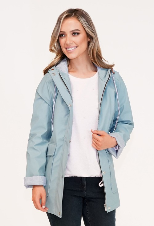 Pamela Scott Grey Raincoat