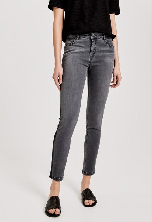Opus Carbon Grey Skinny jeans Evita