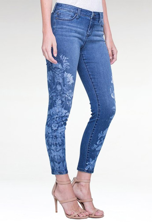Liverpool Penny Floral Skinny Jeans