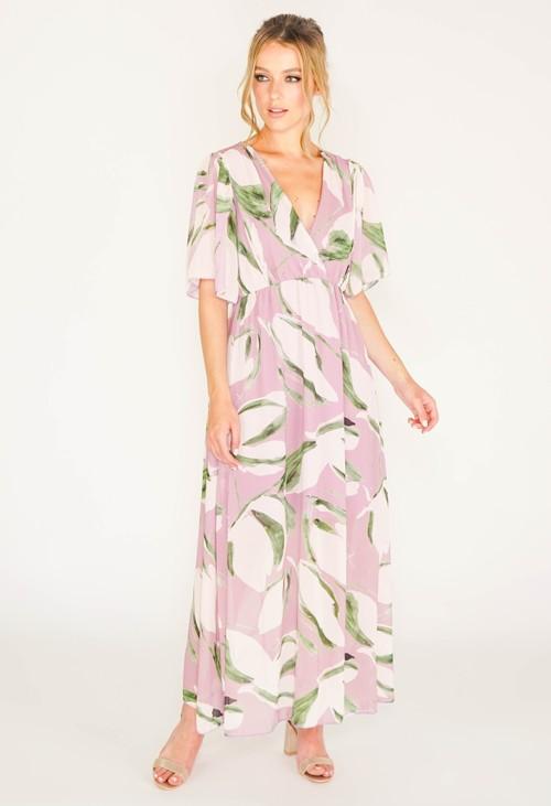 Pamela Scott LILAC MAXI DRESS